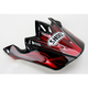 Black/Red/White VFX-W Grant Visor - 0245-6073-01