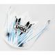 White/Black/Blue VFX-W Crosshair Visor - 0245-6075-02