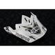 White/Black/Gold VFX-W K-Dub Visor - 0245-6069-09