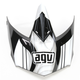 Black/Gunmetal AX-8 Evo Flagestars Visor w/Screws - KIT75002015