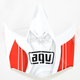 White/Red AX-8 Evo Flagestars Visor w/Screws - KIT75002016