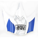 White/Blue AX-8 Evo Flagestars Visor w/Screws - KIT75002017