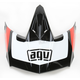 Black/White/Red AX-8 Evo Klassik Visor w/Screws - KIT75002018