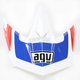 White/Red/Blue AX-8 Evo Klassik Visor w/Screws - KIT75002019