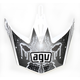White/Silver MT-X Evolution Visor w/Screws - KU0902012
