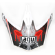 White/Red MT-X Evolution Visor w/Screws - KU0902013