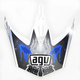 White/Blue MT-X Evolution Visor w/Screws - KU0902014