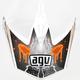 White/Orange MT-X Evolution Visor w/Screws - KU0902015