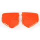 Safety Orange Pivot Covers for AGV Helmets - 0133-0649