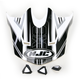 Black/White Visor for HJC CL-X6 Slash Helmet - 732-959