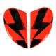 Hi-Viz Orange Sideplates for Airmada Stack Helmets - 0133-0685