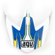 White/Blue MTX Point Visor - KU0902019