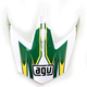 White/Green MTX Point Visor - KU0902020
