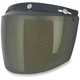 Gold Three-Snap Flip Bubble Shield/Visor - 0131-0081