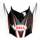 Red/White/Black SX-1 Reactor Visor - 8005619