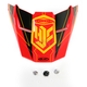 Red/Black/Yellow MC-1 FG-X Talon Helmet Visor - 0967-6012-01