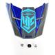 Blue/Charcoal MC-2 FG-X Talon Helmet Visor - 0967-6012-02