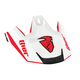 Red/Silver Replacement Visor Kit for Verge Flex Helmet - 0132-0832