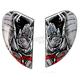 Black Sideplates for Airmada  Ganesh Helmet - 0133-0777
