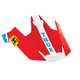 Blue/Red Replacement Visor Kit for Verge Pro GP Helmet - 0132-0839