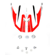 Red/White FX-21 Alpha Visor - 0132-0856