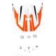 Orange/White FX-21 Alpha Visor - 0132-0858
