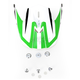 Green/White FX-21 Alpha Visor - 0132-0860