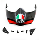 Black/Silver/Red AX-8 Dual Evo GT Visor - 0132-0872