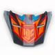 Blue/Red/Orange/Black MC-3H Visor for FG-X Helmet - 0967-6013-13