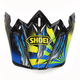 Black/Blue/Yellow VFX-W Grant 2 TC-3 Helmet Visor - 0245-6088-03