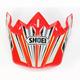 Red/White/Black/Yellow VFX-W Block Pass TC-1 Helmet Visor - 0245-6087-01