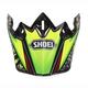Green/Black/Yellow VFX-W Maelstrom TC-4 Helmet Visor - 0245-6085-04