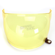 Yellow Bubble Shield with Brown Tab for Bullitt Helmets - 8013388