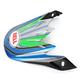 Blue/Green/Black Visor for Moto-9 Airtrix Stance Helmet - 8031065