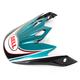 Blue/Black/White/Red Visor for MX-9 Airtrix Paradise Helmet - 8031089