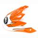 Orange/White Visor for MX-9 Blockade Helmet - 8031091
