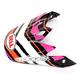 Black/Orange/Pink/White Visor for MX-9 Scrub Helmet - 8031088
