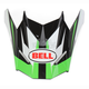Green/Black/White Visor for SX-1 Storm Helmet - 8031118