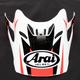 Red/White/Black Visor for VX-Pro 4 Tip Helmet - 811098