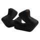 Black 3D Cheekpad Set for SE3 Helmets