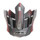 Frost Gray/Red FX-17 Factor Visor - 0132-0930
