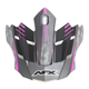 Frost Gray/Fuchsia FX-17 Factor Visor - 0132-0931