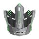 Frost Gray/Green FX-17 Factor Visor - 0132-0932