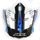 Pearl White/Blue/Light Blue FX-17 Factor Visor - 0132-0943