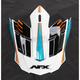 Pearl White/Light Blue/Safety Orange FX-17 Factor Visor - 0132-0944