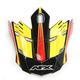 Black/Red/Yellow FX-17 Factor Visor - 0132-0946