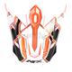 Safety Orange FX-17 Works Visor  - 0132-0956