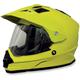 Hi-Vis Yellow FX-39 Dual Sport Helmet