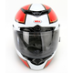 Black/Red/White RS-1 Stellar Helmet - Convertible To Snow