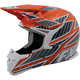 Orange/Charcoal X-1 Race Helmet